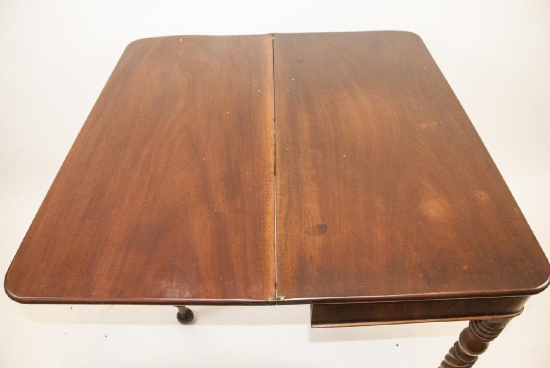 Hollywood Regency Style Mahogany Drop Leaf Table - 6
