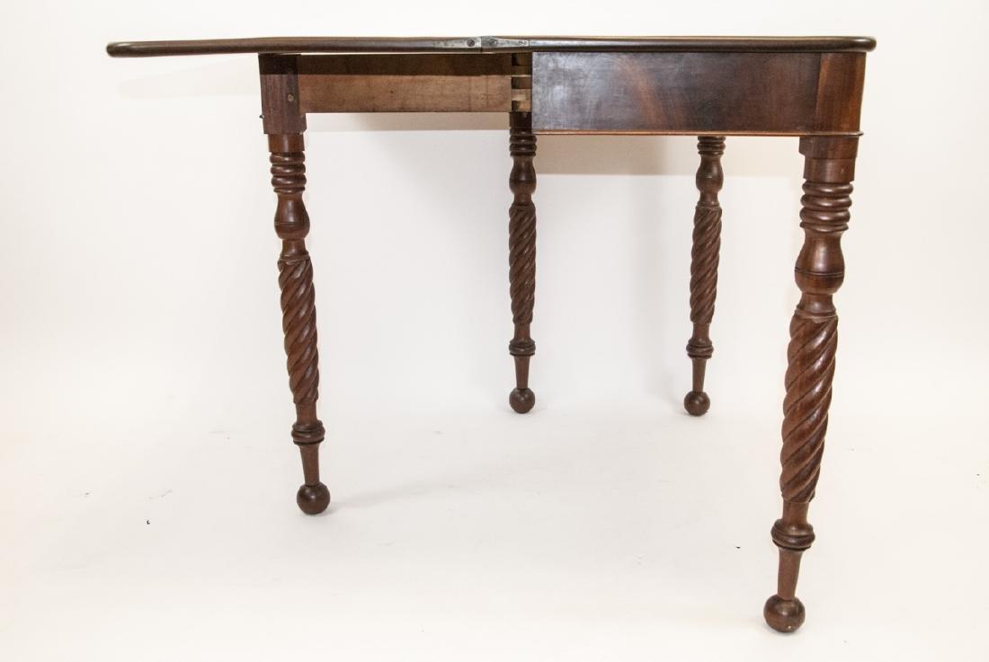 Hollywood Regency Style Mahogany Drop Leaf Table - 7