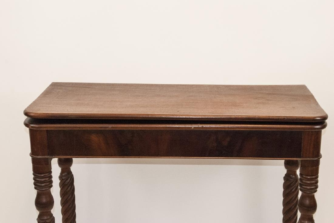Hollywood Regency Style Mahogany Drop Leaf Table - 8