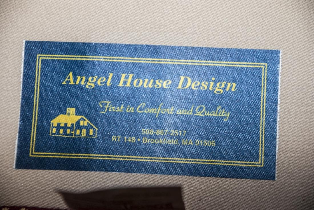Pair Angel House Designs Wing Back Armchairs - 3