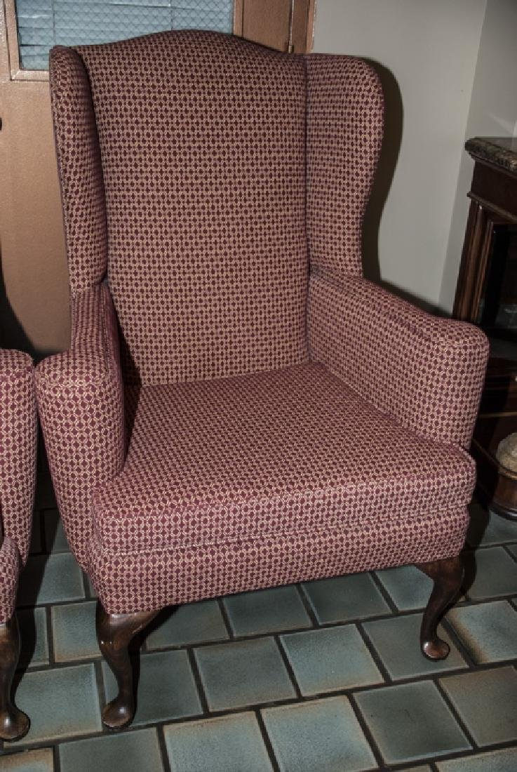 Pair Angel House Designs Wing Back Armchairs - 5
