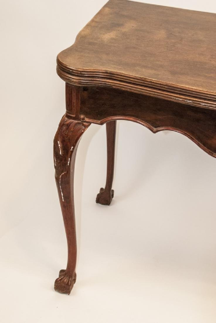 Queen Anne Style Cherry Mahogany Flip Top Table - 4