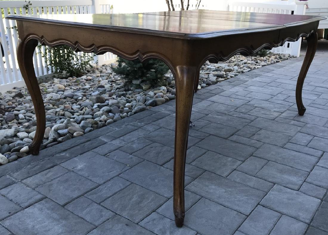 French Country Provencal Style Walnut Dining Table - 10