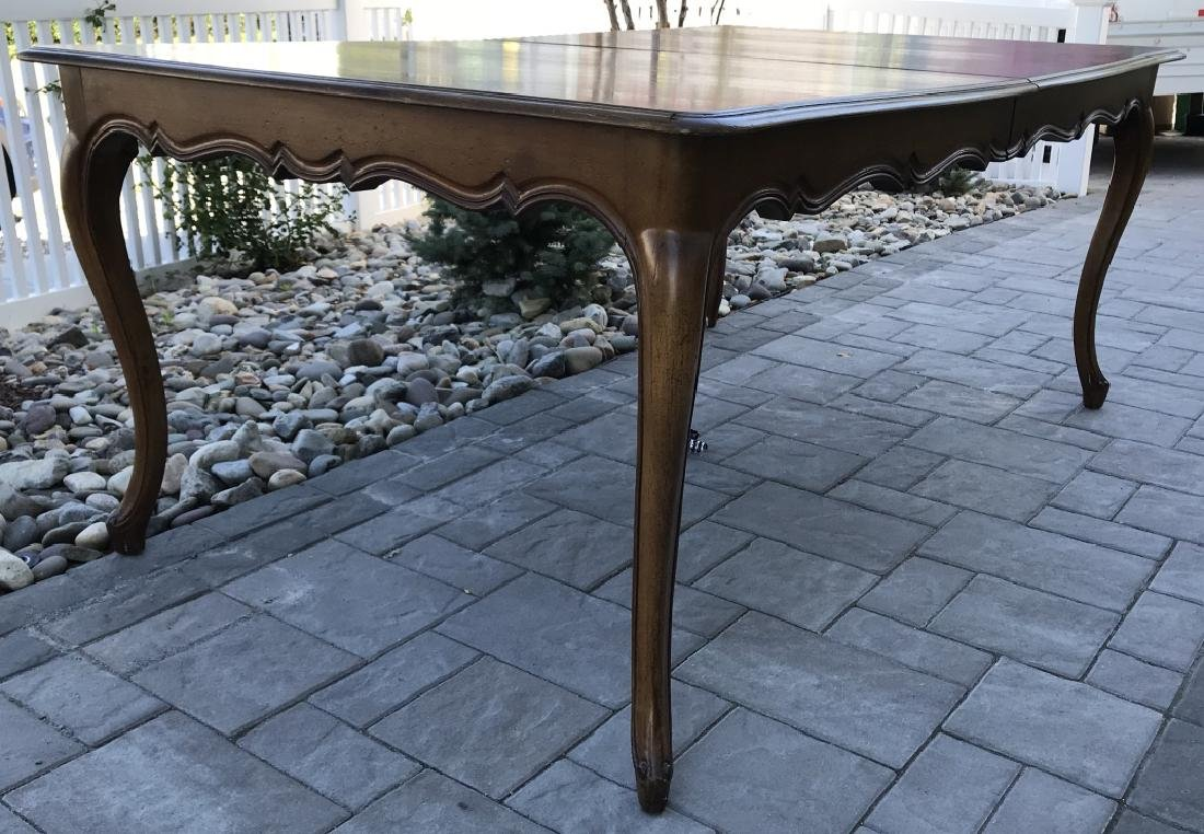 French Country Provencal Style Walnut Dining Table