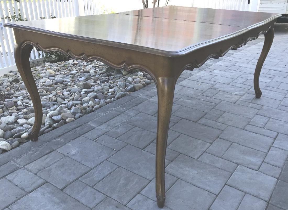 French Country Provencal Style Walnut Dining Table - 2