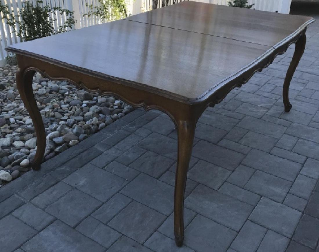 French Country Provencal Style Walnut Dining Table - 3