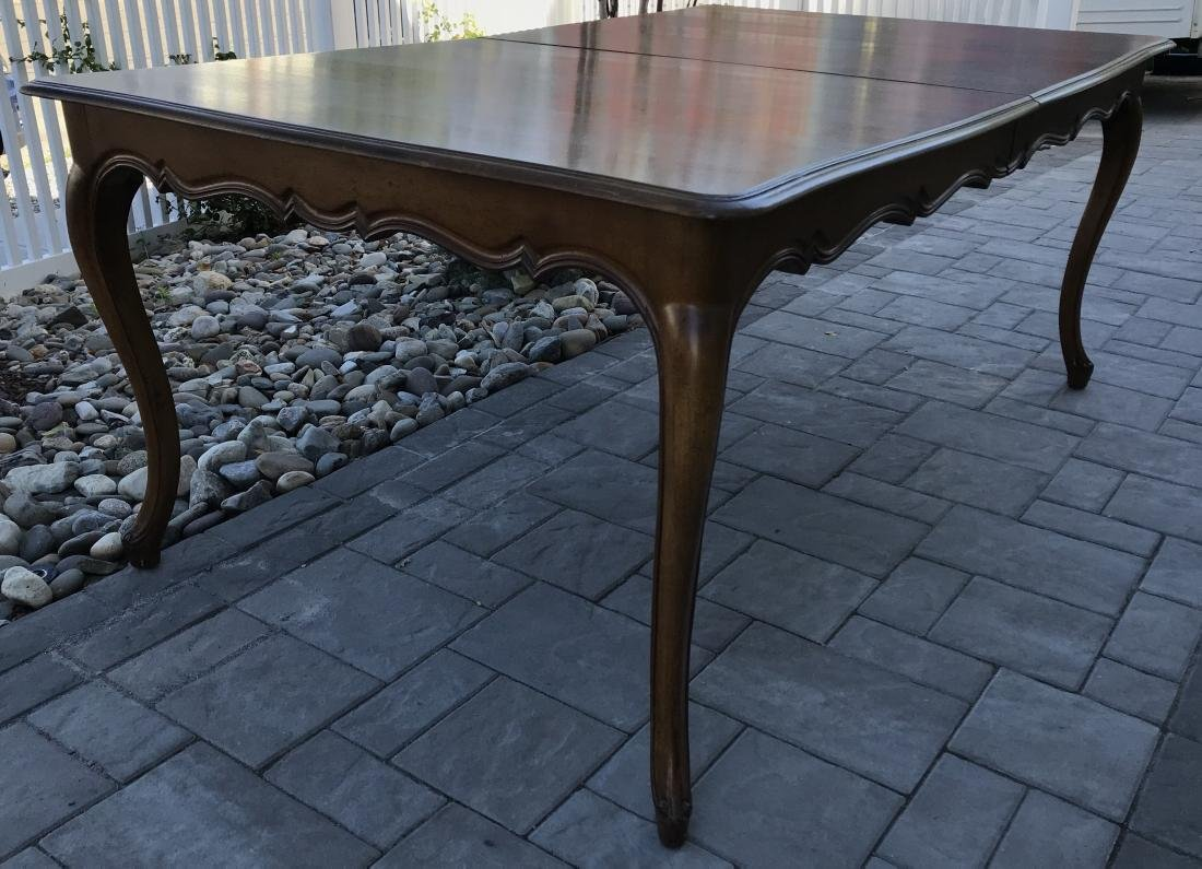 French Country Provencal Style Walnut Dining Table - 7