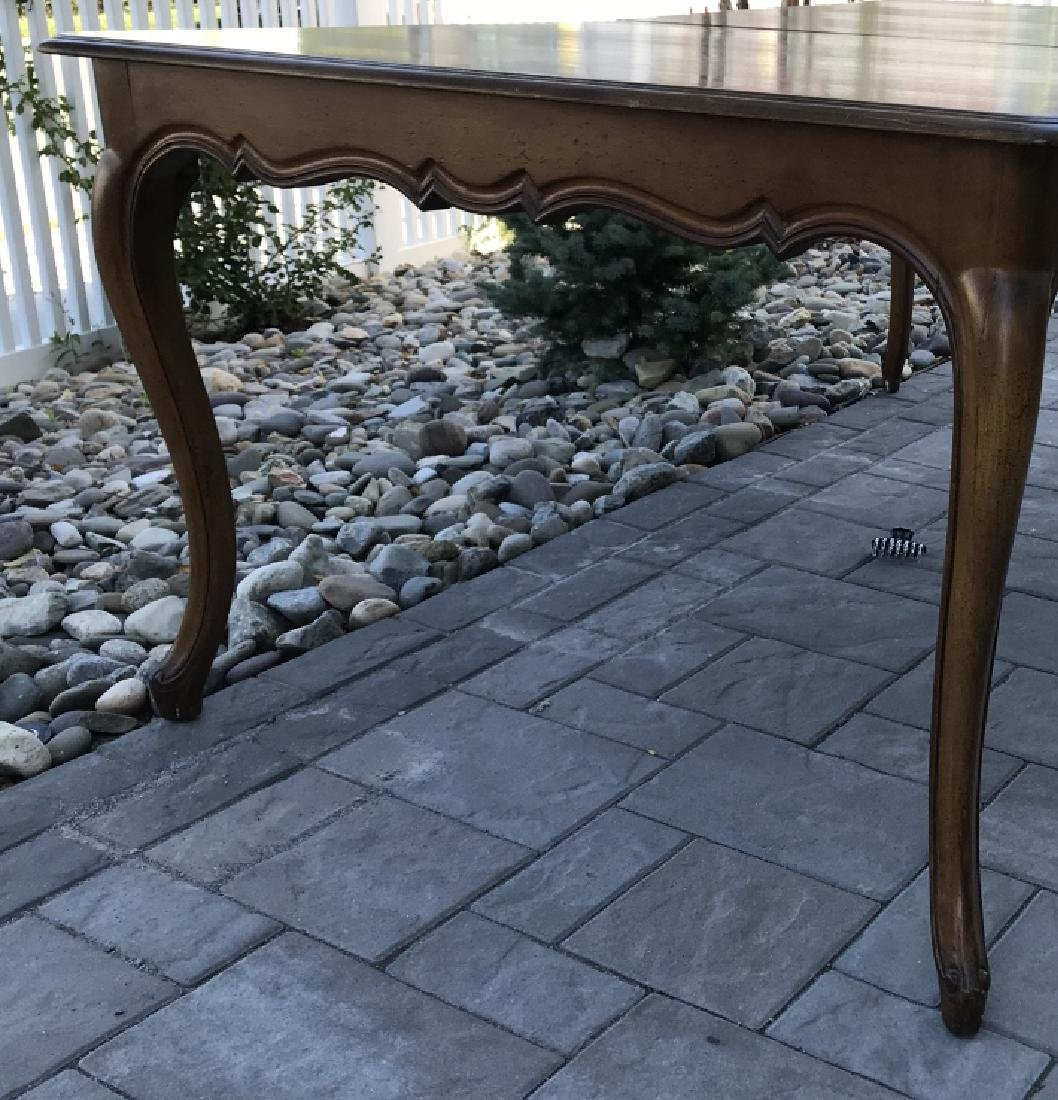 French Country Provencal Style Walnut Dining Table - 8