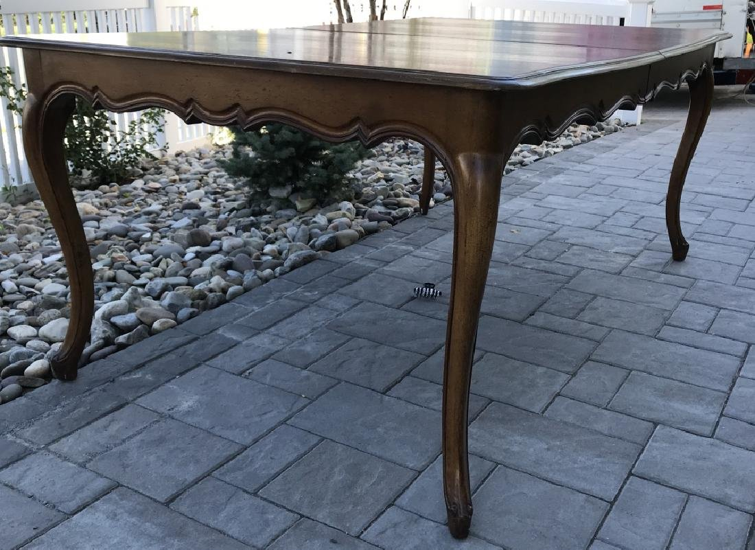 French Country Provencal Style Walnut Dining Table - 9