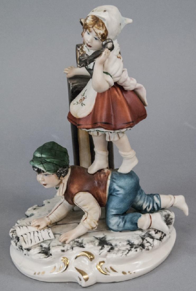 Capodimonte Meneghetti Bisque Porcelain Figurine