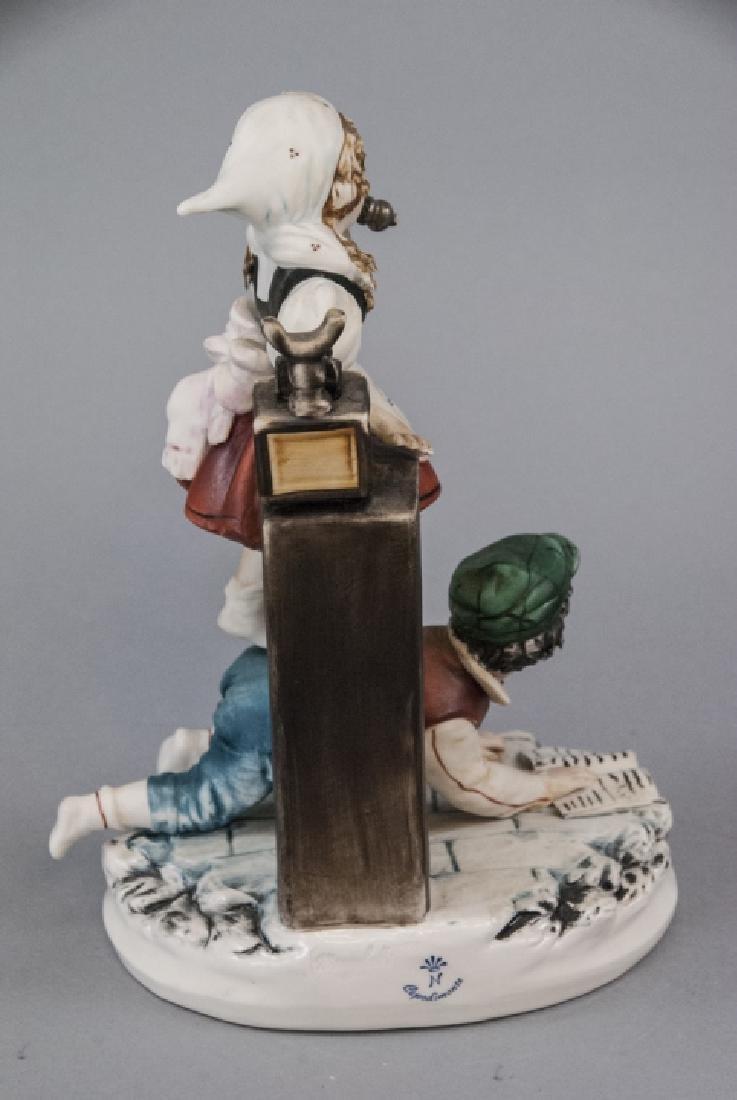 Capodimonte Meneghetti Bisque Porcelain Figurine - 4