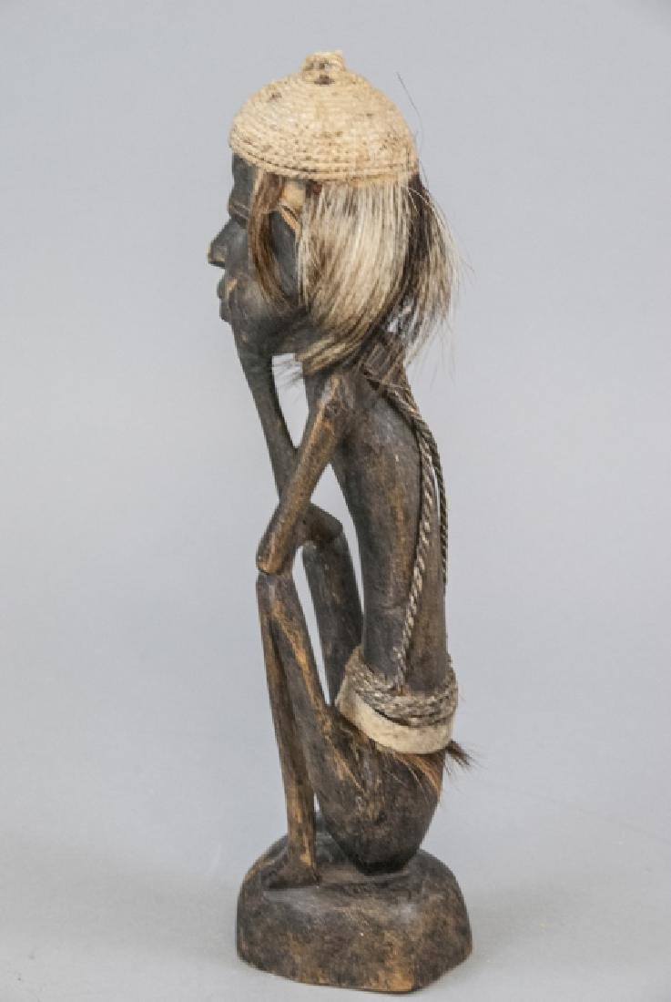 Hand Made Wooden African Tribal Figural Sculpture - 4