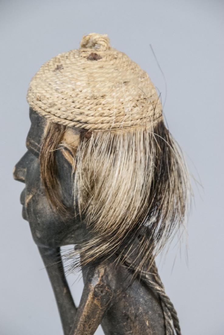 Hand Made Wooden African Tribal Figural Sculpture - 5