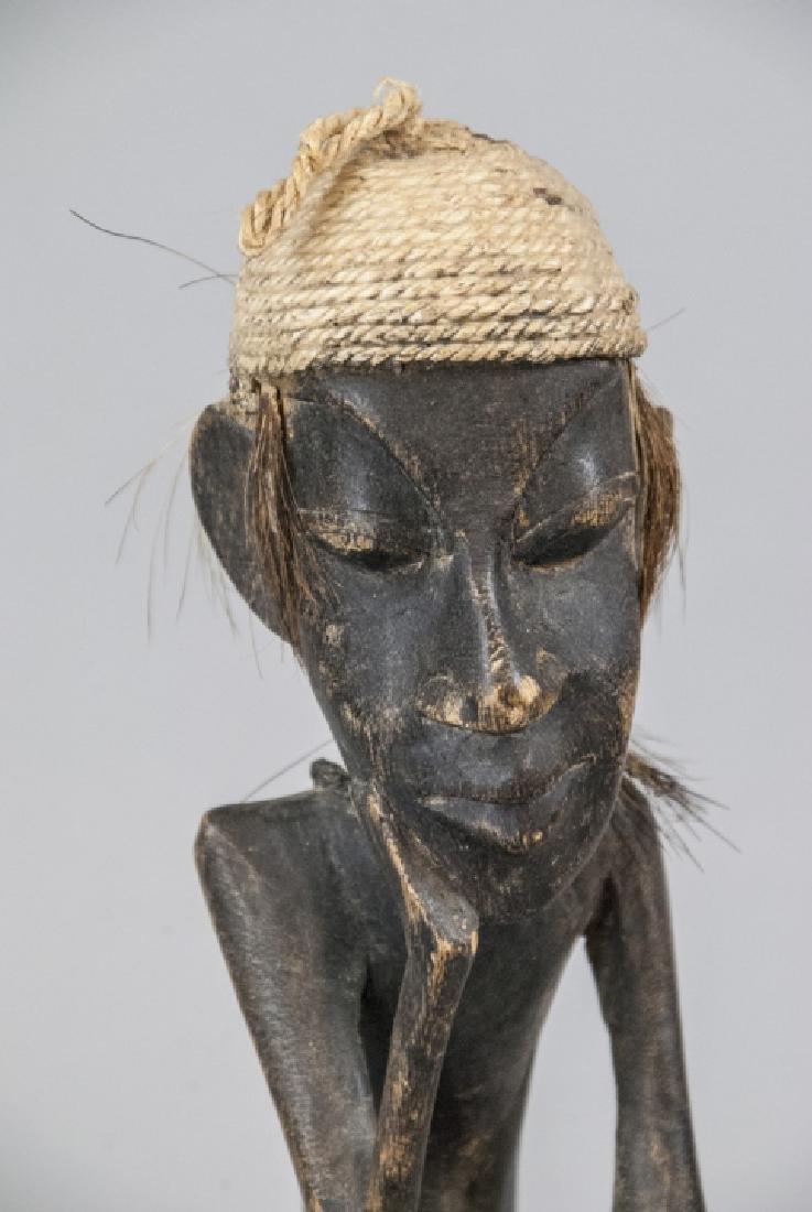 Hand Made Wooden African Tribal Figural Sculpture - 6