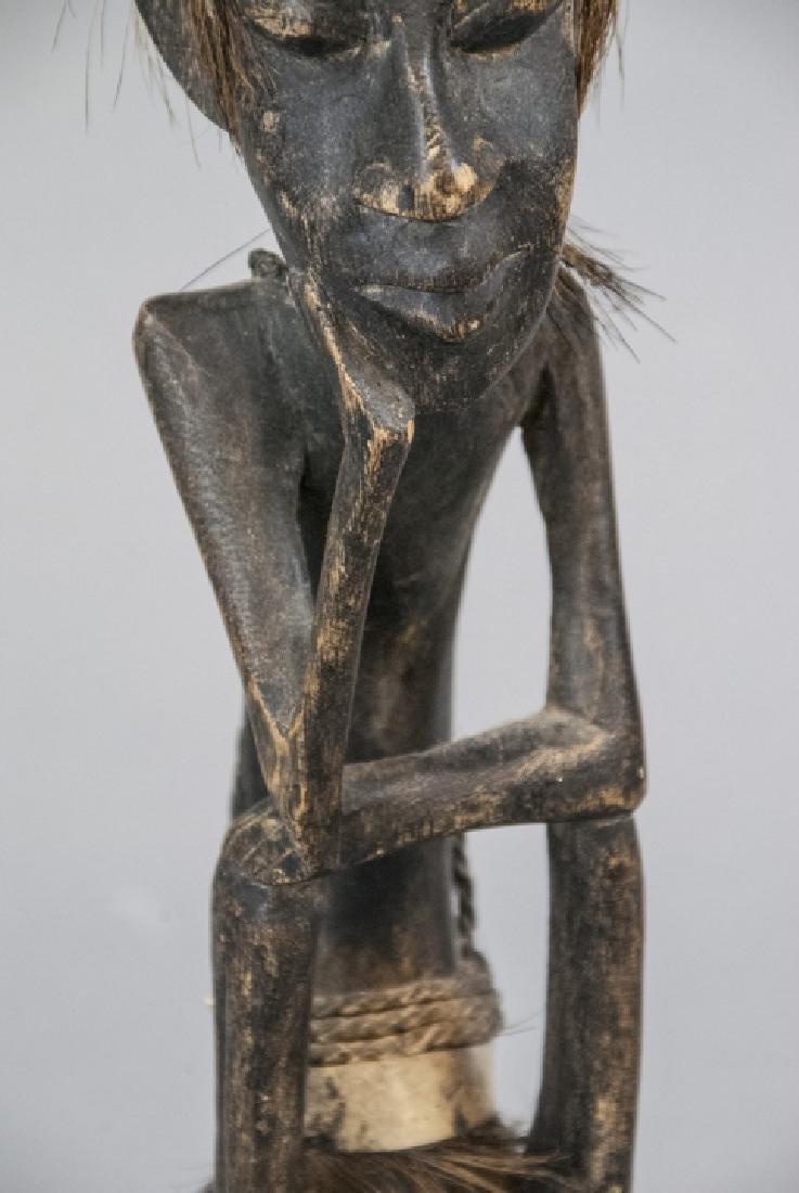 Hand Made Wooden African Tribal Figural Sculpture - 7