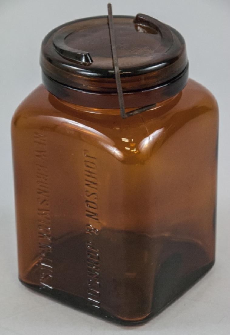 Antique / Pre WWI Johnson & Johnson Pharmacy Jar
