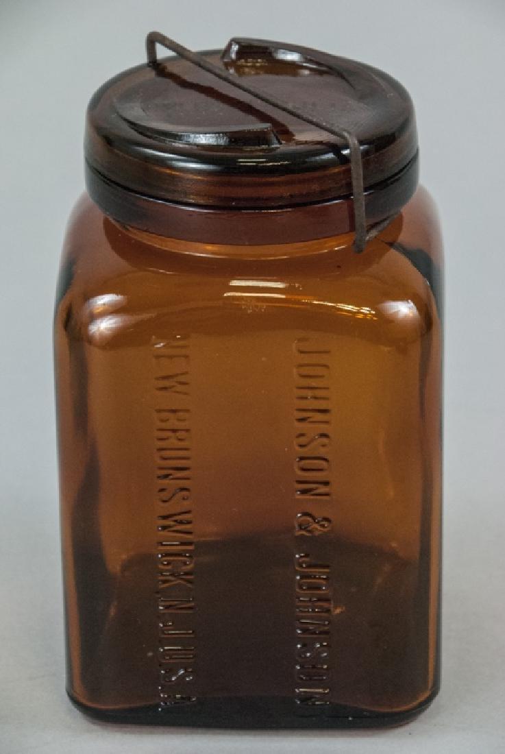 Antique / Pre WWI Johnson & Johnson Pharmacy Jar - 2