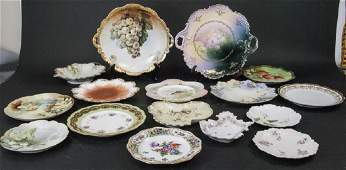 Collection of Antique Bavarian Porcelain Plates