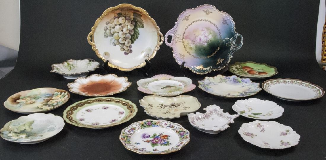 Collection of Antique Bavarian Porcelain Plates
