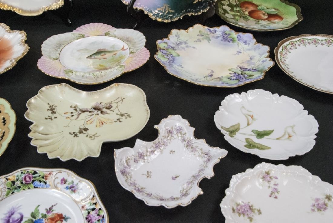 Collection of Antique Bavarian Porcelain Plates - 5