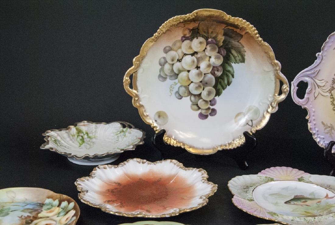 Collection of Antique Bavarian Porcelain Plates - 8
