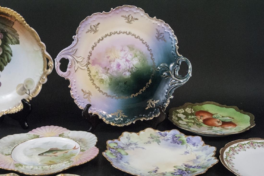Collection of Antique Bavarian Porcelain Plates - 9