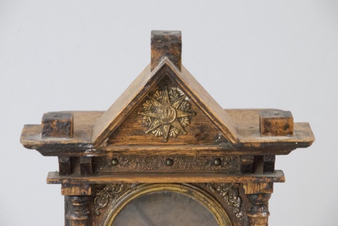 Antique Hand Carved Architectural Mantle Clock - 3