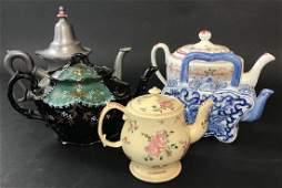 Collection of Antique  Vintage Teapots