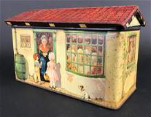 Antique Hansel  Gretel Lithographed Tin Canister