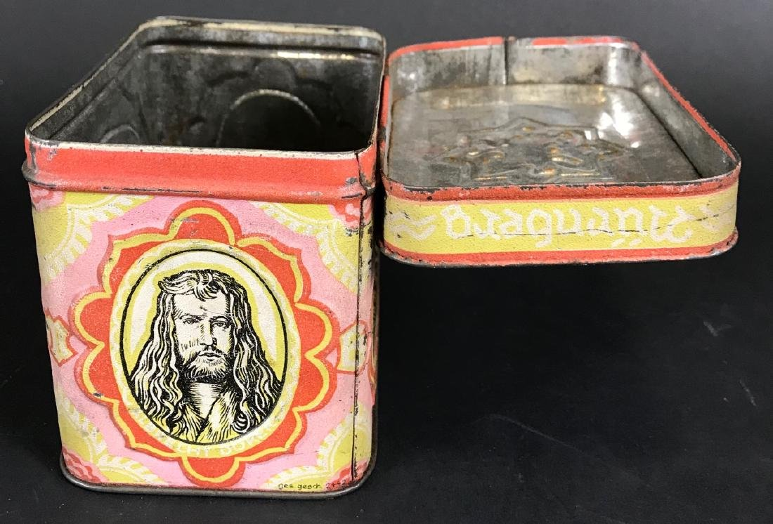 Antique Lithographed Tin German Canister - 3