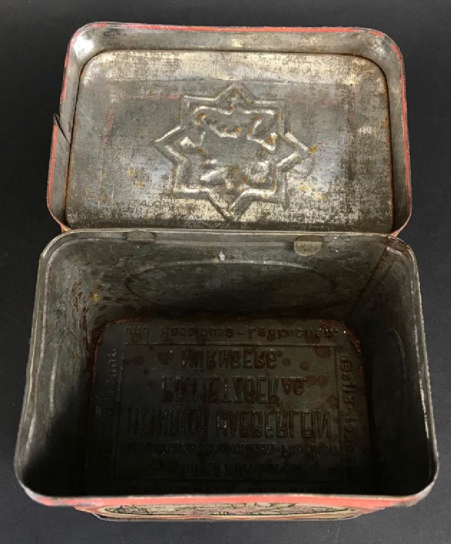 Antique Lithographed Tin German Canister - 5