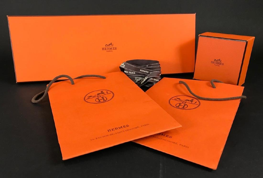 Two Hermes Boxes & Two Hermes Bags