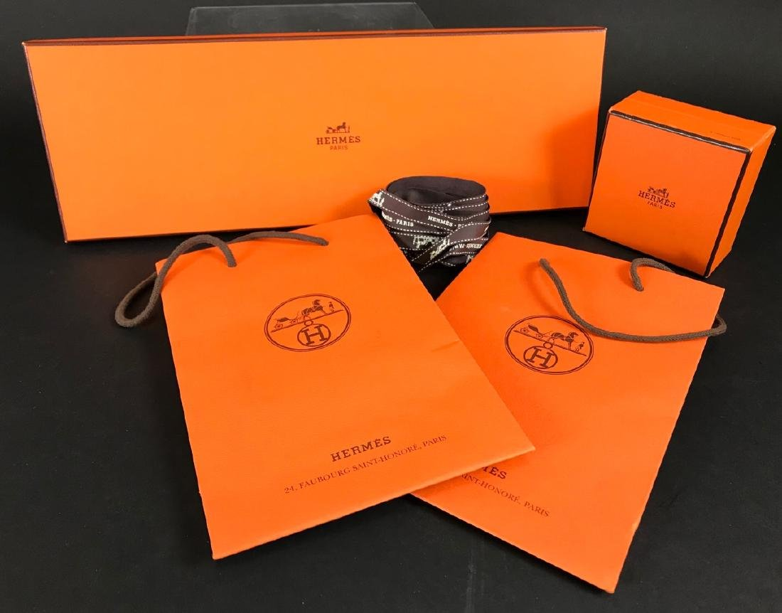 Two Hermes Boxes & Two Hermes Bags - 2