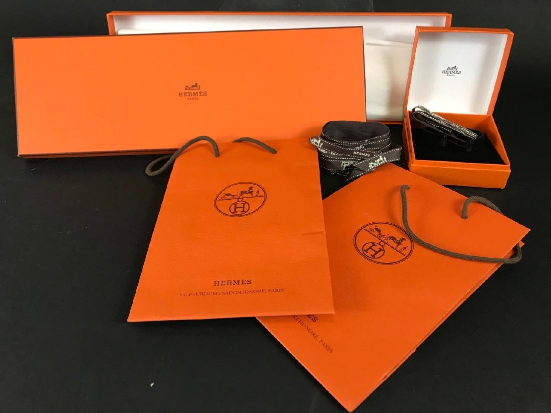 Two Hermes Boxes & Two Hermes Bags - 4