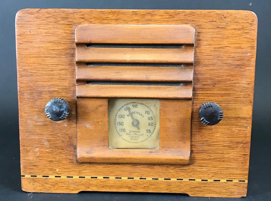 Vintage Emerson Wooden Tube Radio