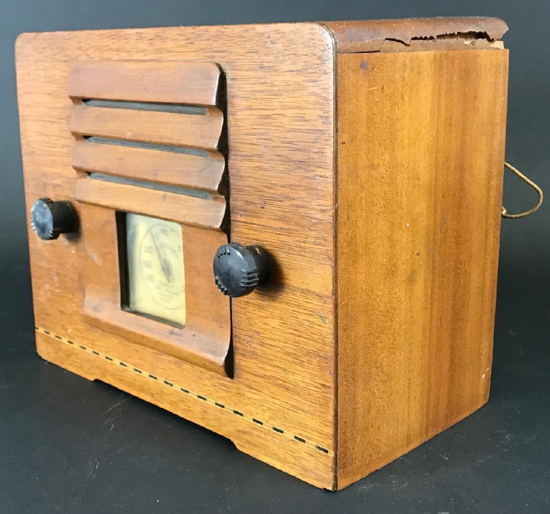 Vintage Emerson Wooden Tube Radio - 3