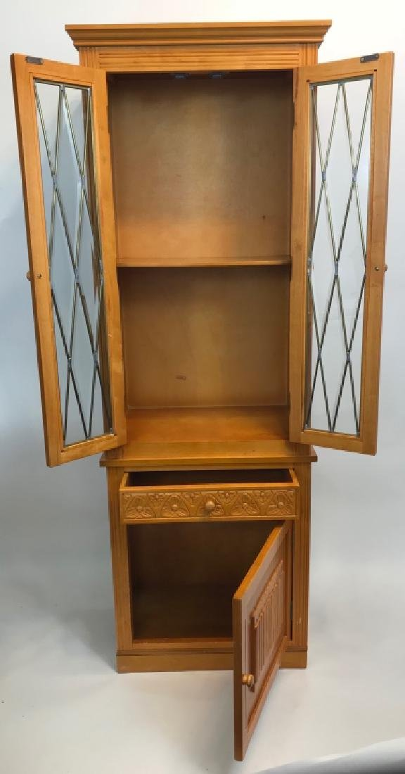 Arts & Crafts Style Paned Glass Jelly Cabinet - 2