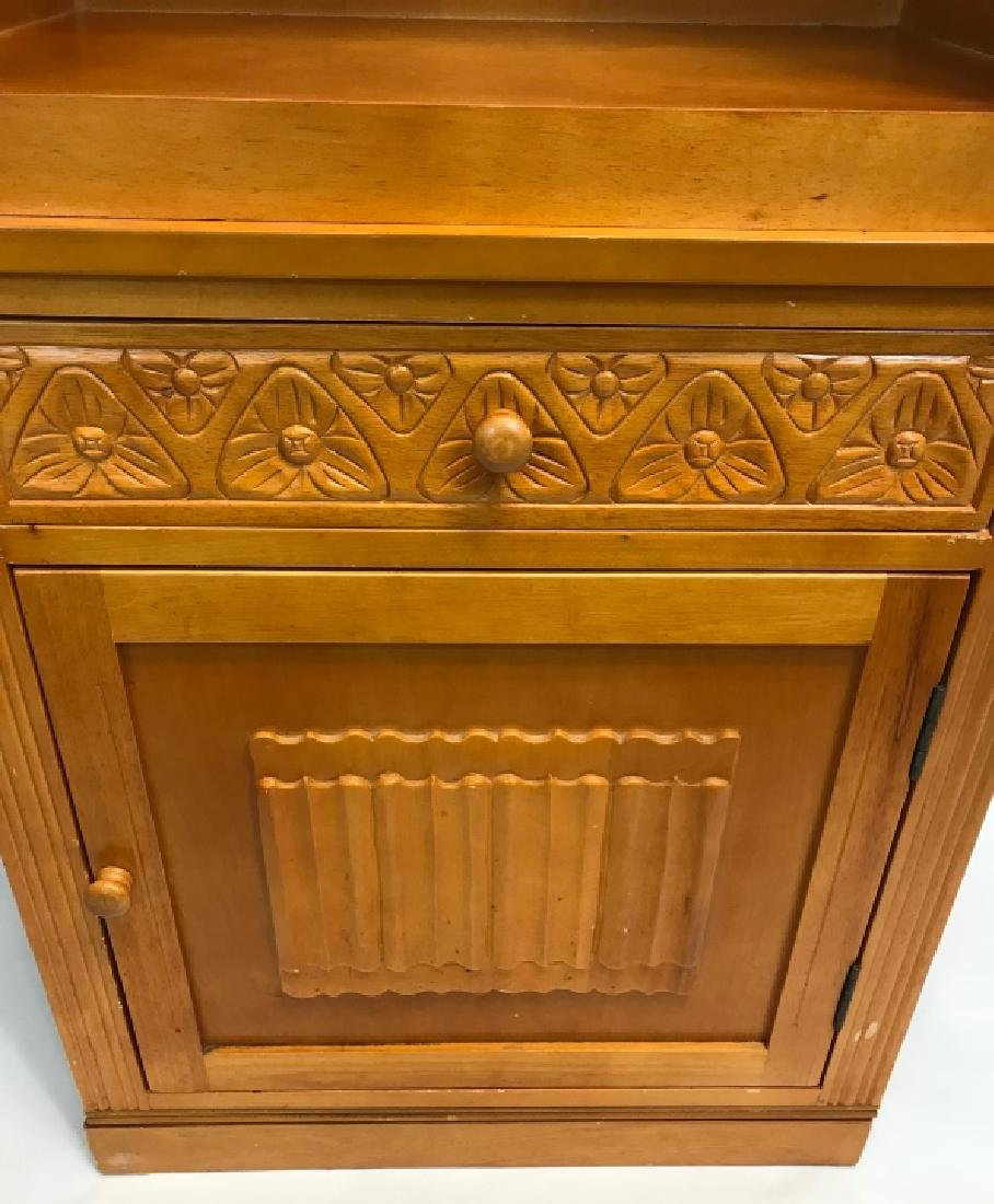 Arts & Crafts Style Paned Glass Jelly Cabinet - 3