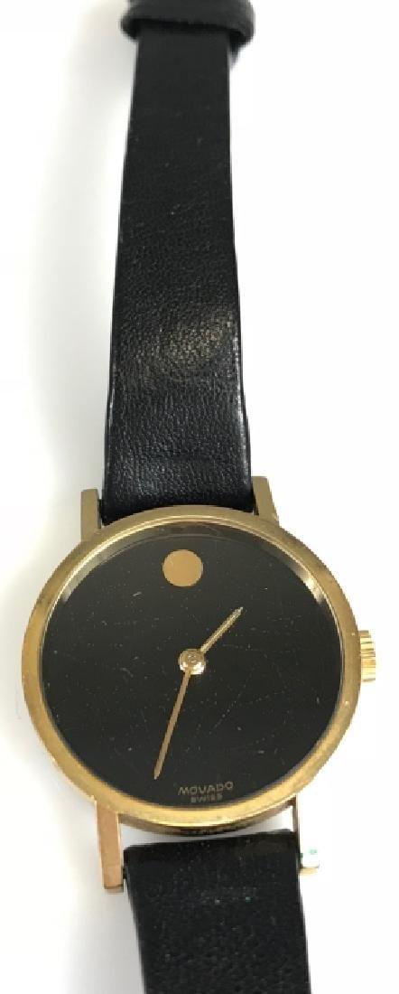 Vintage Movado Leather Ladies Wristwatch - 2