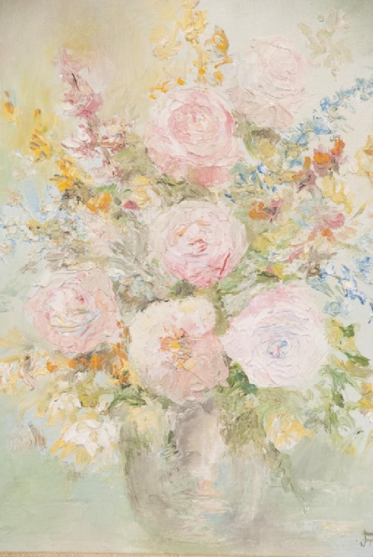 Original Signed Oil on Canvas Still Life Painting - 2