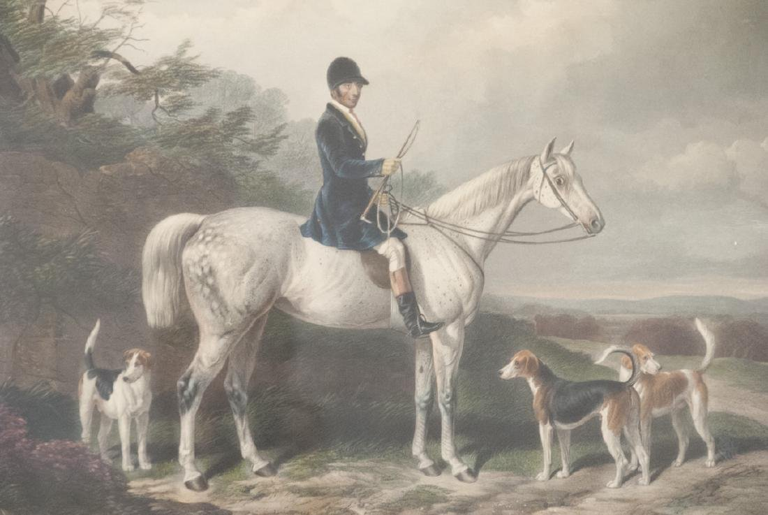 Framed Hand Colored English Equestrian Engraving - 6