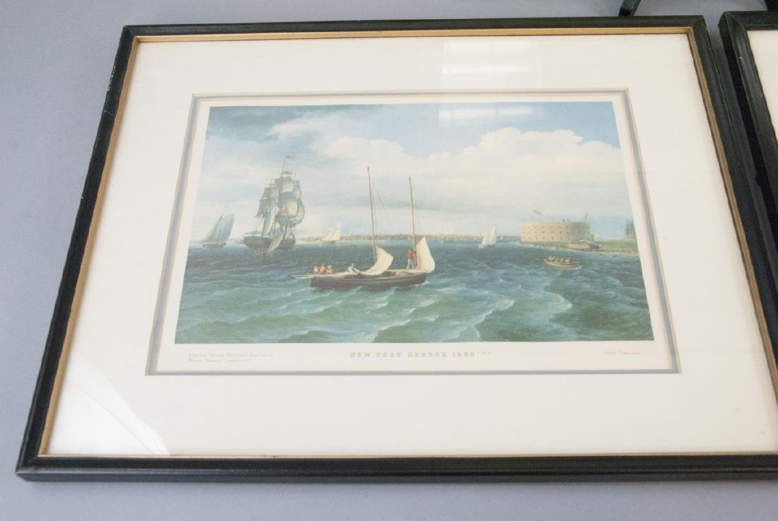 3 Reproduction New England Ship Engraving Prints - 2