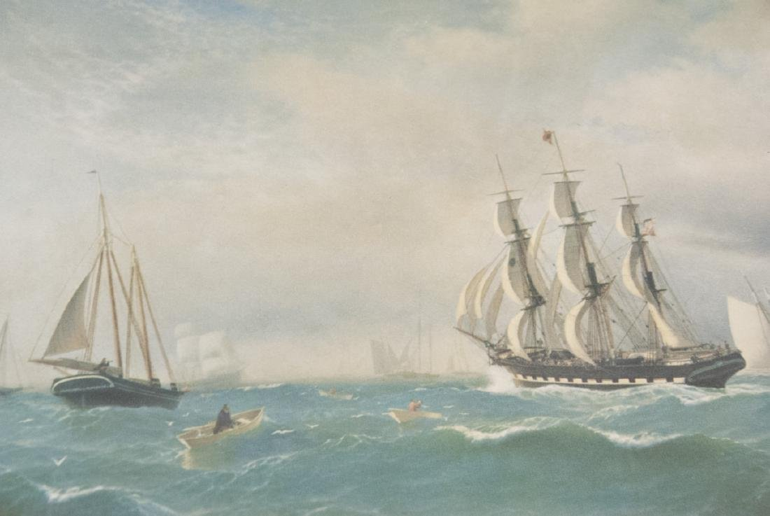3 Reproduction New England Ship Engraving Prints - 4