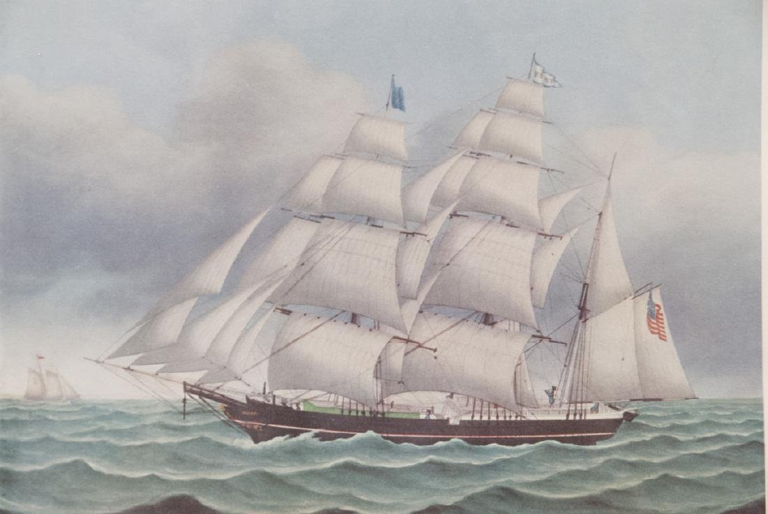 3 Reproduction New England Ship Engraving Prints - 6