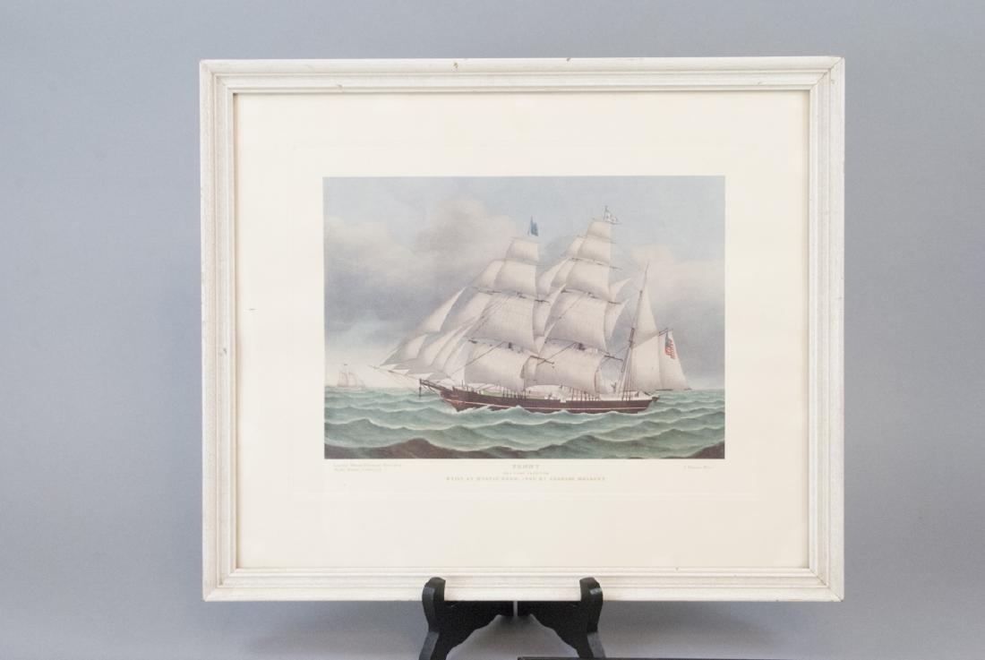 3 Reproduction New England Ship Engraving Prints - 7