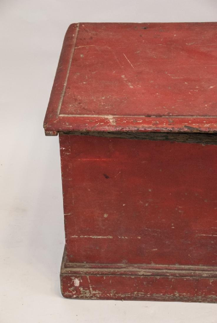 Hand Painted Country American Wooden Blanket Chest - 4