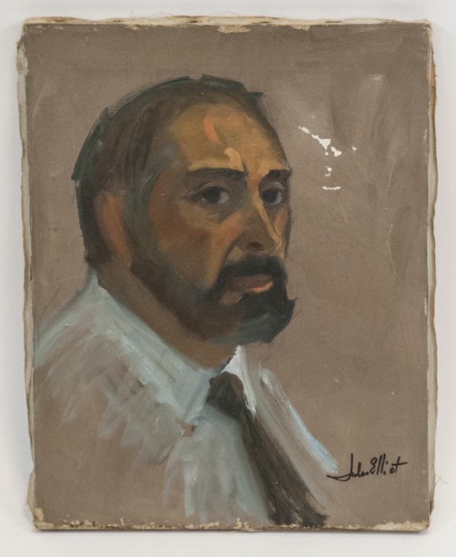 Original Modernist Portrait Oil Painting Signed