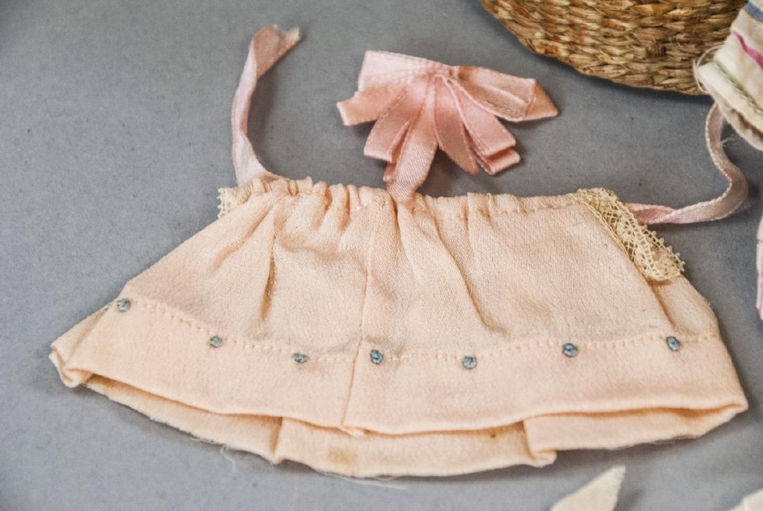 Antique German All Bisque Doll w Wardrobe & Box - 6