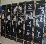 Chinese Coromandel Six Panel Screen
