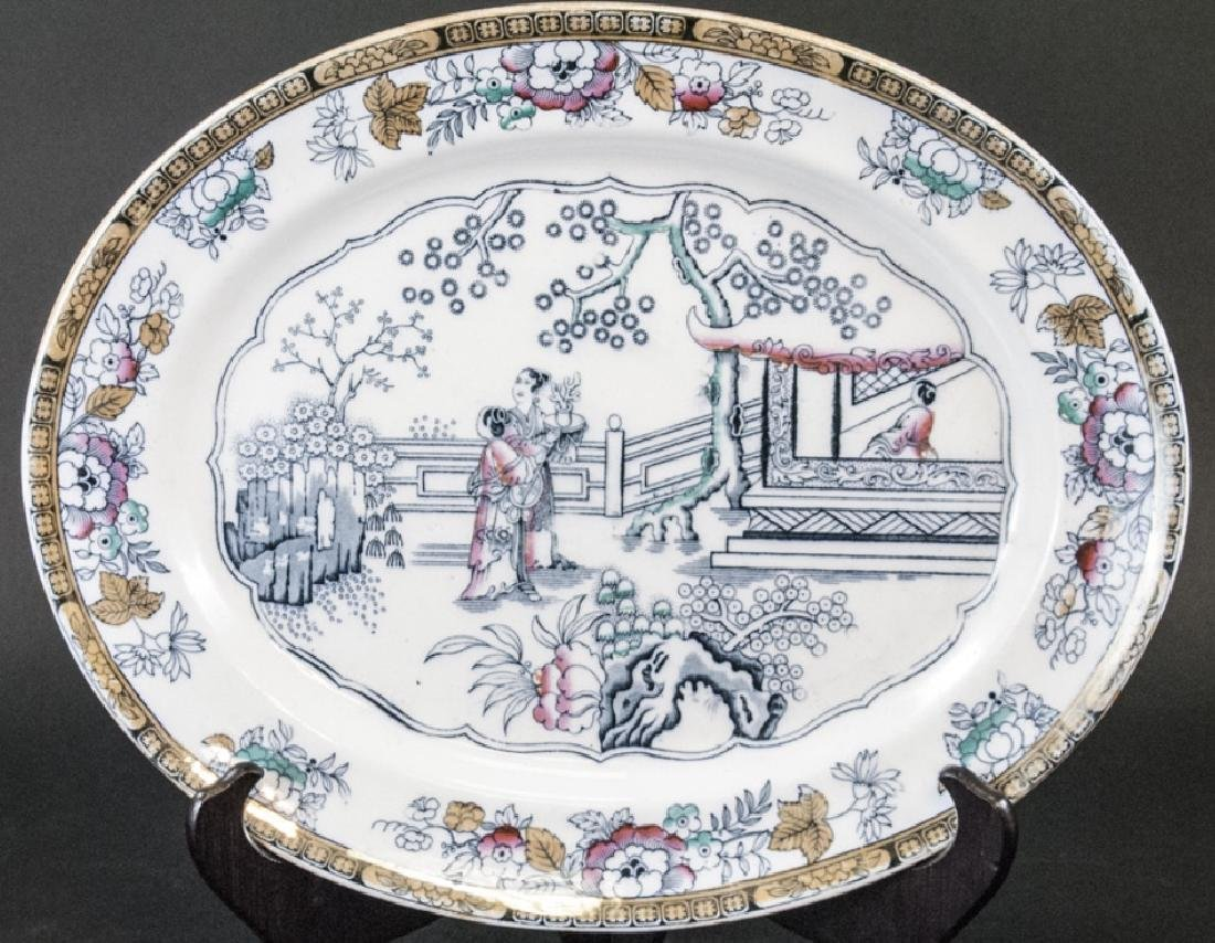 Antique 19th C English Chinese Pattern Platter